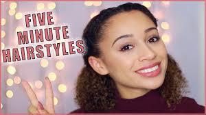 5 Minute Hairstyles For Girls 5 Minute Hairstyles For Curly Haired Girls Youtube