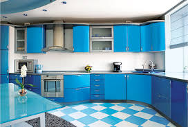 Color Kitchen Dazzling Design Ideas Of Modular Small Kitchen With Sky Blue Color