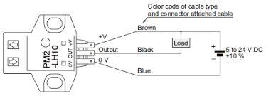 convergent reflective micro photoelectric sensor pm2 i o circuit wiring diagram