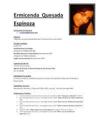 Curriculum Vitae Costa Rica Machote
