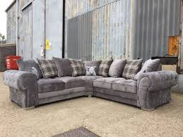 verona fabric corner sofa 2c2 silver