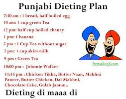 Diet Chart In Punjabi Language