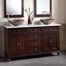 Dark Bathroom Cabinets 60 Keller Mahogany Double Vessel Sink Vanity Dark Espresso