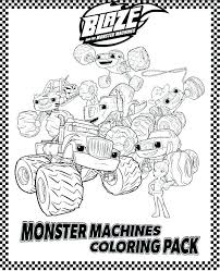Monster Truck Printable Coloring Pages Blaze And The Monster