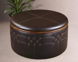 innovative round leather coffee table tuscan brown round leather ottoman coffee table with storage