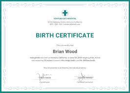 Pictures Of Blank Birth Certificates Awesome Printable Birth Certificate Templates Lcysne