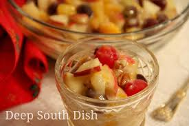 fruit salad with custard. Delighful Custard Old Fashioned Holiday Fruit Salad With Custard Sauce Intended With H