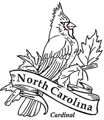 Cardinal Bird Of North Carolina Coloring Page Free Printable North