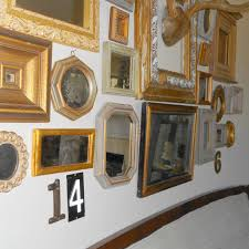 industrial vignettes 4 gold mirror gallery wall
