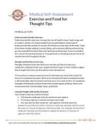 exercise and food thought tips docsity exercise and food thought tips