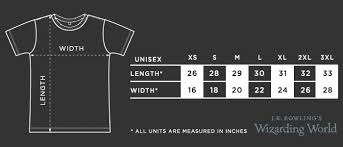 Loot Crate Shirt Size Chart Sizing Charts Loot Crate Help Center
