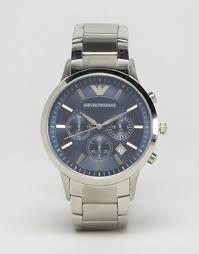 men s watches digital designer watches asos emporio armani ar2448 watch stainless steel strap