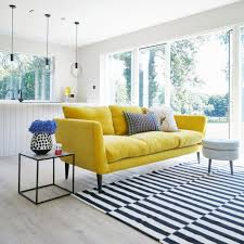 yellow living room furniture. Canaray Yellow Velvet Sofa Adds A Pop Of Colour To An All Grey Living Room In Furniture U