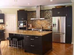 Kitchen With Dark Cabinets Kitchen Backsplash Ideas With Dark Cabinets Comfort Home Design