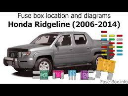 fuse box location and diagrams honda ridgeline (2006 2014) youtube 2006 honda ridgeline fuse box at 2006 Ridgeline Fuse Box