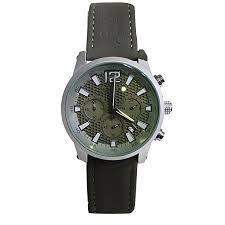 men s strap faux leather watch grey