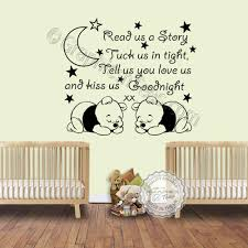 read us a story twins nursery wall sticker with two sleeping baby winnie the pooh baby boys girls bedroom wall quote on wall art decal nursery with read us a story twins nursery wall sticker with two sleeping baby