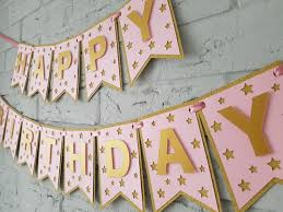 happy birthday banners personalized happy birthday banner personalized birthday decorations girl etsy