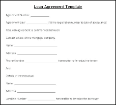 Debt Agreement Template Private Loan Australia Member Or