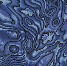 New Zealand Paua Shell Design Blue NZ Quilting Fabric - Find a Fabric &  Adamdwight.com