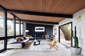 midcentury living room by visual jill interior decorating