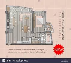 Loft Design Floor Plan Floor Plan Of A Modern Apartment Interior Loft Design With