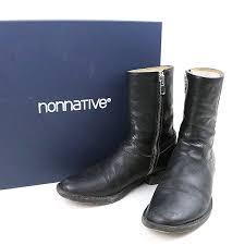 nonnative non native x rags mcgregor rancher zip up boot side zip leather boots men black
