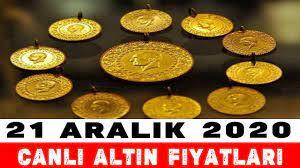 21 Aralık 2020   Altın Fiyatları Bugün Ne Kadar, Gram Altın, Çeyrek Altın,  Tam Altın - YouTube