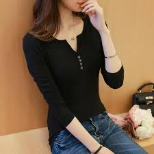 <b>Women</b> Long Sleeve T Shirt For Female 2019 <b>Cotton Korean Style</b> ...