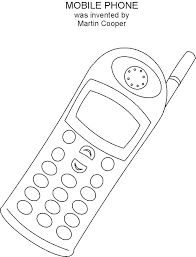 Phone Coloring Page Cell Phone Coloring Pages Free Printable Cell