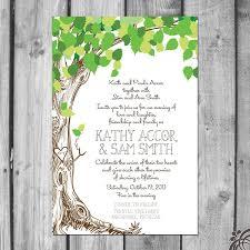 Wedding Invitations With Tree Designs Lush Green Love Tree Wedding Invitation Set 2475800 Weddbook
