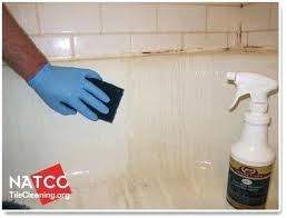 bathtub stain remover cleaning bathtub with a scrub pad fiberglass tub rust stain remover