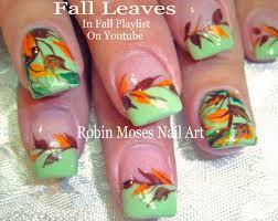 Nail Art! DIY Fall Nails! Easy Autumn Leaves Design Tutorial - YouTube