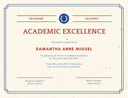 Award Of Excellence Certificate Template Gorgeous Academic Excellence Certificate Templates By Canva