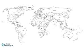 Printable Map Of The World Black And White Download Them Or Print