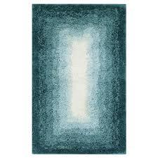 mohawk home ombre border 20 x 32 bath rug aqua