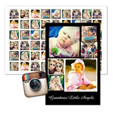 Instagram profile picture size (avatar size): Instagram Photo Wall Art Custom Collage Posters Mailpix