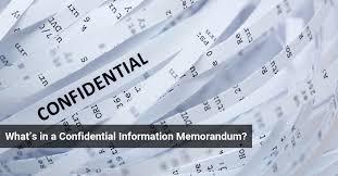 confidential information memorandum