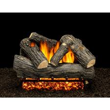 the country log pile gas log set vented