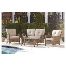 outdoor patio wicker chairs. lakewood ranch 4 piece steel woven wicker outdoor patio furniture set with cushions and coffee table - brown cosco chairs i