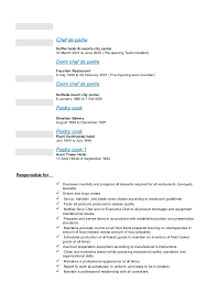 Collection of Solutions Demi Chef De Partie Resume Sample For Your Sample  Proposal