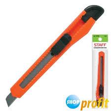 <b>Нож канцелярский</b> 9мм <b>Staff</b> (фиксатор) (230484) - Shop-<b>Profit</b>
