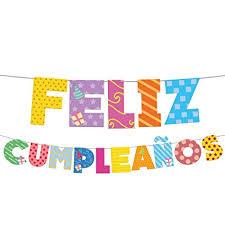 Eurofiestas Guirnalda Letras Feliz Cumpleaños