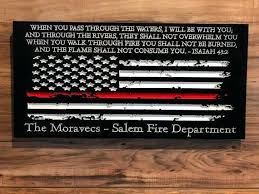 firefighter graduation gifts gift for him personalized custom sign rustic flag home decor distressed present firefighter graduation gifts