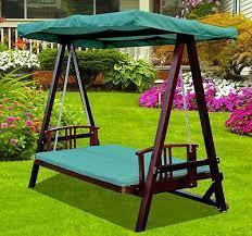 swing chair garden wooden garden swing