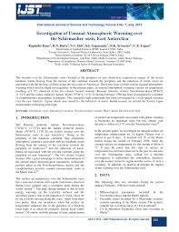 Pdf Investigation Of Unusual Atmospheric Warming Over The