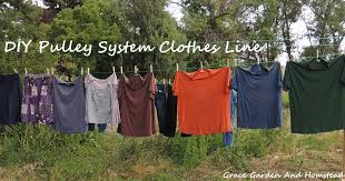 How To Make A Clothesline Simple DIY Pulley System Clothes Line