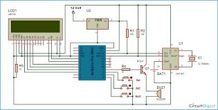 arduino based alarm clock circuit diagram