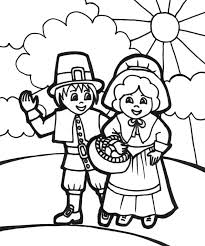 Small Picture Thanksgiving Pilgrims Coloring Pages GetColoringPagescom