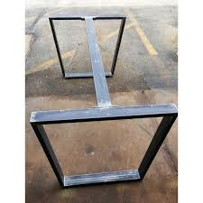 black iron furniture. Trapezoid Steel Legs With 1 Or 2 Braces Dining Table Industrial Black Iron Furniture D